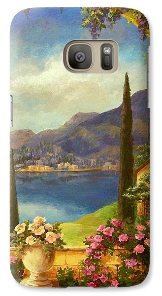Galaxy Case featuring the painting Villa Rosa by Evie Cook