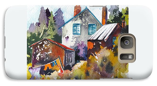 Galaxy Case featuring the painting Village Life 1 by Rae Andrews