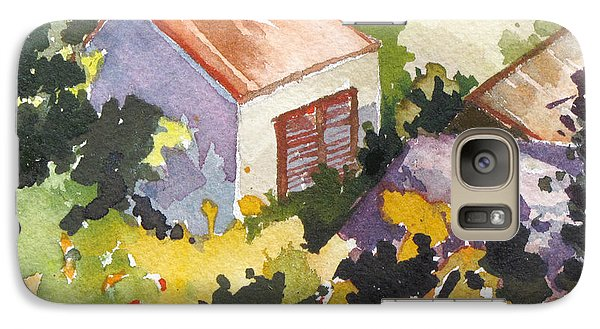 Galaxy Case featuring the painting Village Life 2 by Rae Andrews