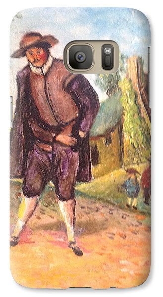 Galaxy Case featuring the painting Village Man  by Egidio Graziani