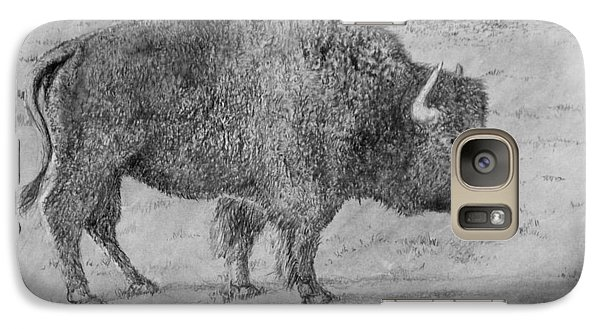 Galaxy Case featuring the drawing Villages Buffalo by Jim Hubbard