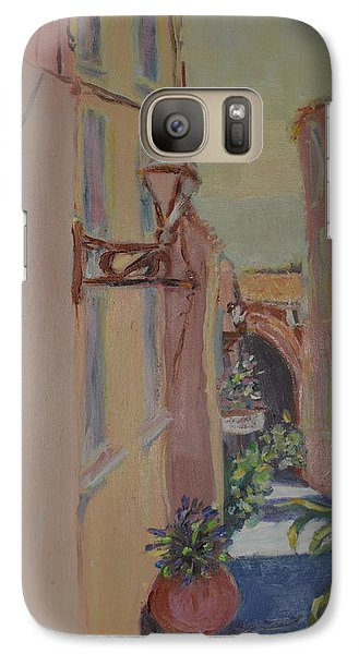 Galaxy Case featuring the painting Ville Franche by Julie Todd-Cundiff