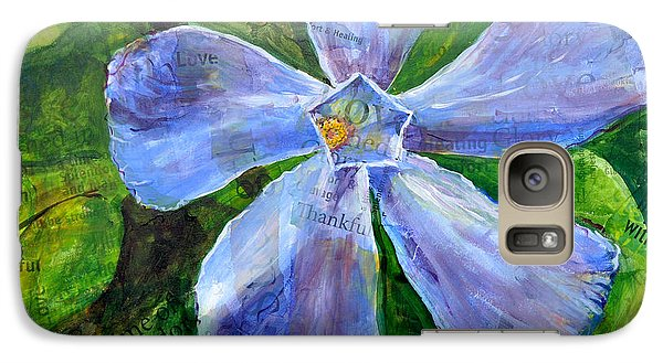 Galaxy Case featuring the painting Vinca Joy by Lisa Fiedler Jaworski