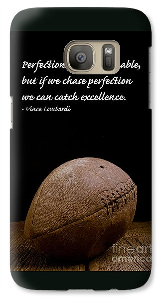 Sports Galaxy S7 Case - Vince Lombardi On Perfection by Edward Fielding