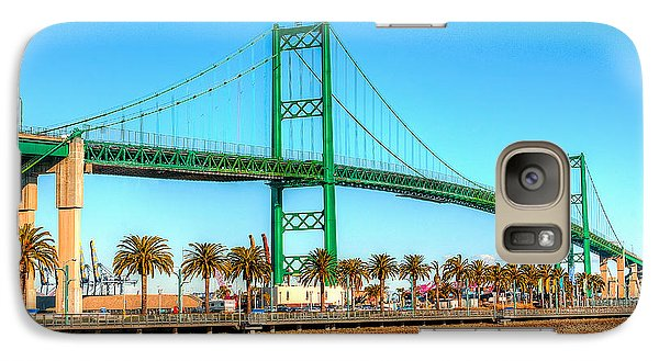 Galaxy Case featuring the photograph Vincent Thomas Bridge by Jim Carrell