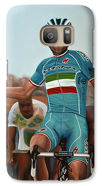 Vincenzo Nibali Painting Galaxy S7 Case by Paul Meijering