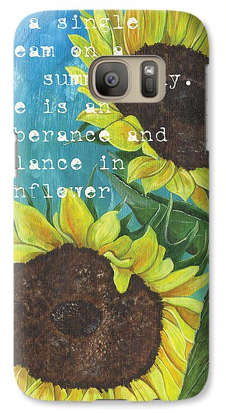 Sunflower Galaxy S7 Case - Vince's Sunflowers 1 by Debbie DeWitt