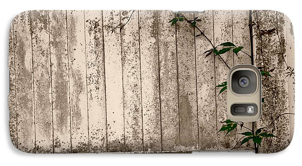 Galaxy Case featuring the photograph Vine And Fence by Amanda Vouglas