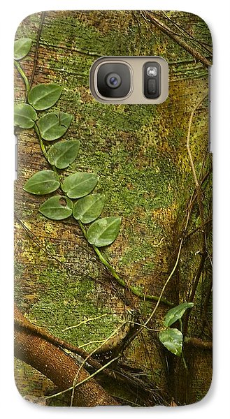 Galaxy Case featuring the photograph Vine On Tree Bark by Stuart Litoff
