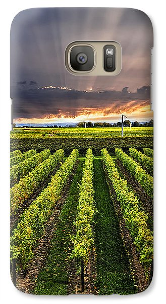 Vineyard At Sunset Galaxy S7 Case