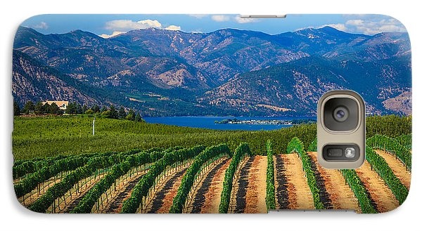 Vineyard In The Mountains Galaxy S7 Case by Inge Johnsson