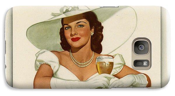 Galaxy Case featuring the digital art Vintage Ballintine Beer Ad by Allen Beilschmidt