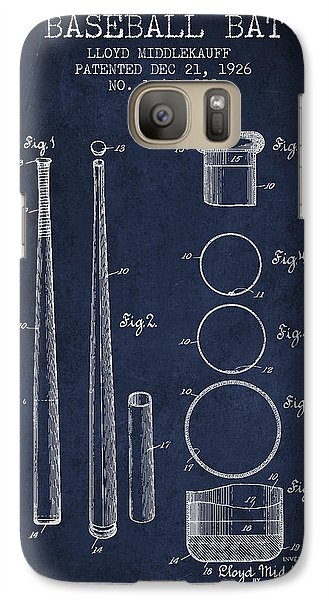 Softball Galaxy S7 Case - Vintage Baseball Bat Patent From 1926 by Aged Pixel