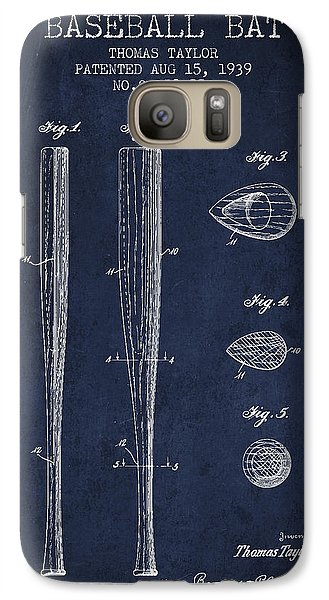 Softball Galaxy S7 Case - Vintage Baseball Bat Patent From 1939 by Aged Pixel