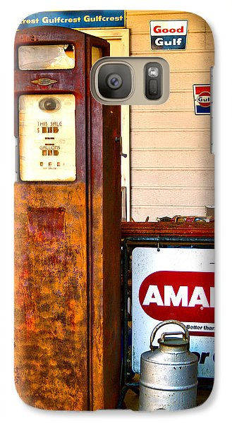 Galaxy Case featuring the photograph Vintage Bassett Gas Pump   by Lesa Fine