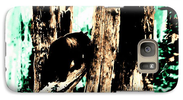 Galaxy Case featuring the photograph Vintage Bear In The Mount Rainier Forest Early 1900 Era... by Eddie Eastwood