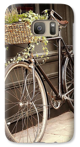 Bicycle Galaxy S7 Case - Vintage Bicycle by Jane Rix