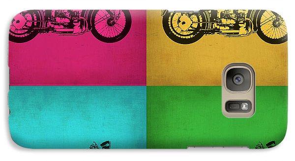 Motorcycle Galaxy S7 Case - Vintage Bike Pop Art 1 by Naxart Studio