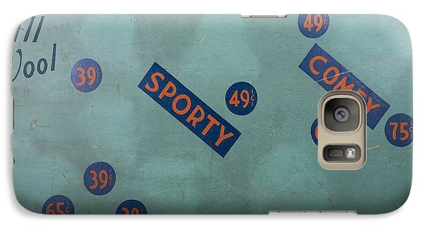 Galaxy Case featuring the painting Vintage Cap Sign by Kurt Olson