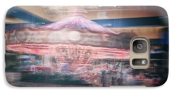 Galaxy Case featuring the photograph Vintage Carousel by James Bethanis