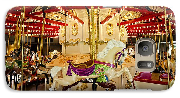Galaxy Case featuring the photograph Vintage Carousel by Maria Janicki