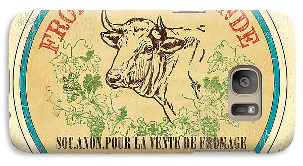 Cow Galaxy S7 Case - Vintage Cheese Label 1 by Debbie DeWitt
