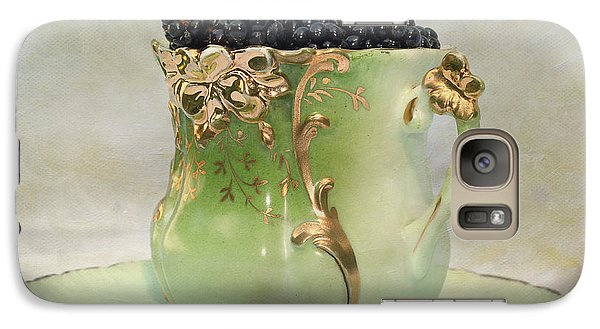Galaxy Case featuring the photograph Vintage Cup O Berries by Kathleen Holley