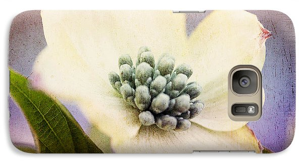 Galaxy Case featuring the photograph Vintage Dogwood Blossom by Trina  Ansel