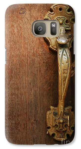 Galaxy Case featuring the photograph Vintage Door Handle by Patrick Shupert