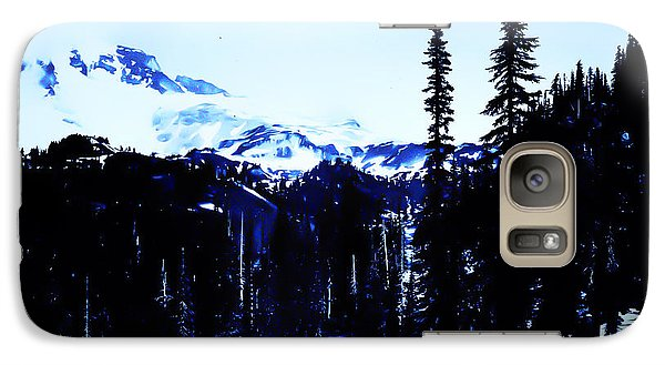 Galaxy Case featuring the photograph Vintage... Driving Up To Mount Rainier Early 1900 Era... by Eddie Eastwood