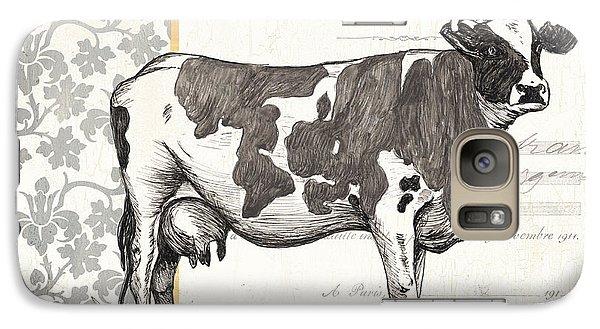 Cow Galaxy S7 Case - Vintage Farm 1 by Debbie DeWitt