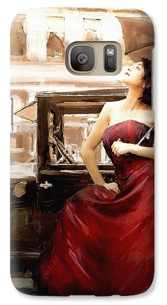 Galaxy Case featuring the painting Vintage Lady by Robert Smith