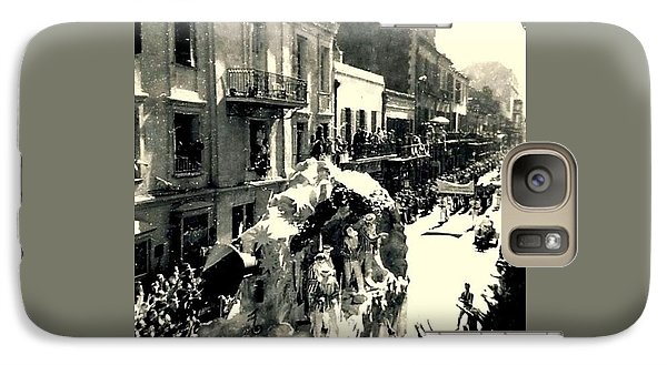 Galaxy Case featuring the photograph New Orleans Vintage Mardi Gras In The French Quarter Of  Louisiana  1960 by Michael Hoard