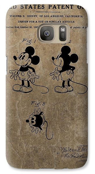 Vintage Mickey Mouse Patent Galaxy S7 Case