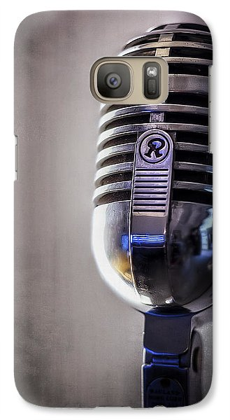 Jazz Galaxy S7 Case - Vintage Microphone 2 by Scott Norris