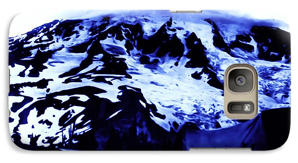 Galaxy Case featuring the photograph Vintage Mount Rainier At Twilight Early 1900 Era... by Eddie Eastwood
