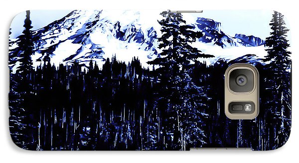 Galaxy Case featuring the photograph Vintage Mount Rainier Early 1900 Era... by Eddie Eastwood