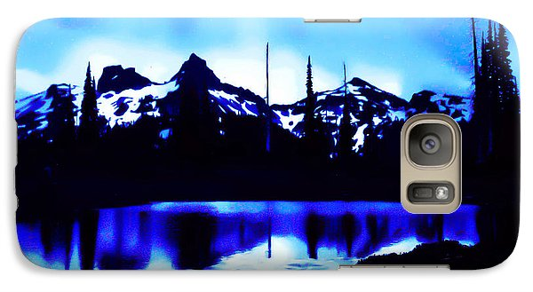 Galaxy Case featuring the photograph Vintage Mount Rainier With Longmire Springs In The Foreground Early 1900 Era... by Eddie Eastwood