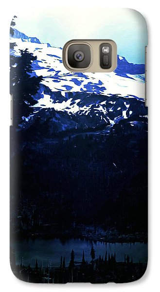 Galaxy Case featuring the photograph Vintage Mount Rainier With Reflexion Lake Early 1900 Era... by Eddie Eastwood