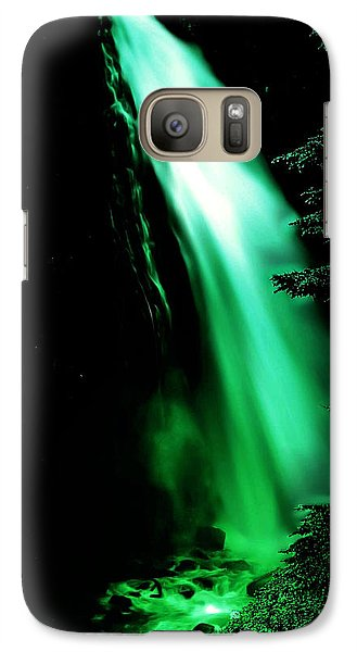 Galaxy Case featuring the photograph Vintage Narada Falls Early 1900 Era... by Eddie Eastwood