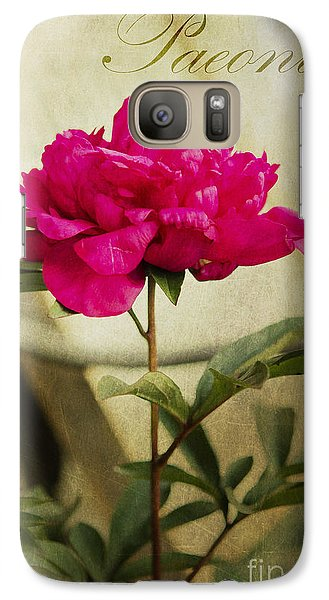 Galaxy Case featuring the photograph Vintage Peony by MaryJane Armstrong