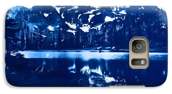 Galaxy Case featuring the photograph Vintage Reflection Lake  With Ripples Early 1900 Era... by Eddie Eastwood