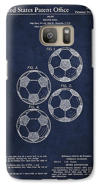 Vintage Soccer Ball Patent Drawing From 1964 Galaxy Case by Aged Pixel