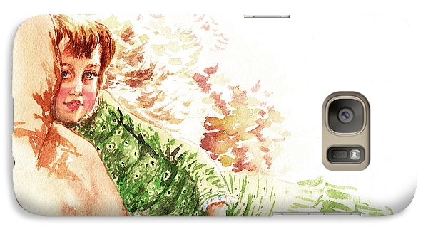 Galaxy Case featuring the painting Vintage Study Lilian Of James Tissot by Irina Sztukowski