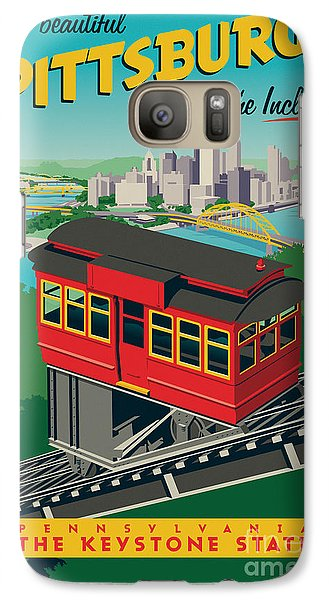 Vintage Style Pittsburgh Incline Travel Poster Galaxy S7 Case