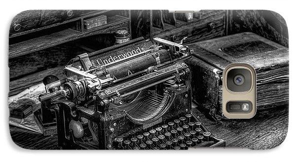 Vintage Typewriter Galaxy Case by Adrian Evans
