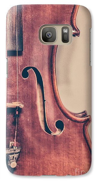 Violin Galaxy S7 Case - Vintage Violin Portrait 2 by Emily Kay