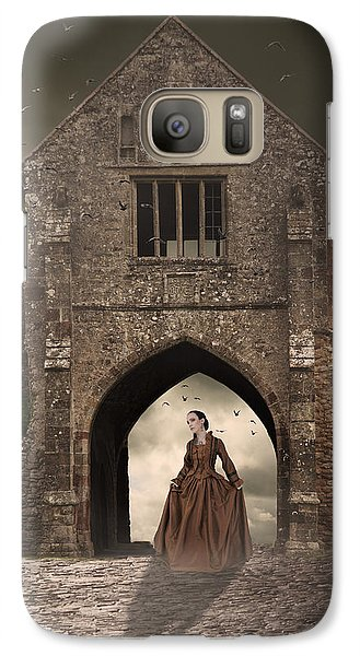 Galaxy Case featuring the photograph Vintage Woman Standing Under Archway by Ethiriel  Photography