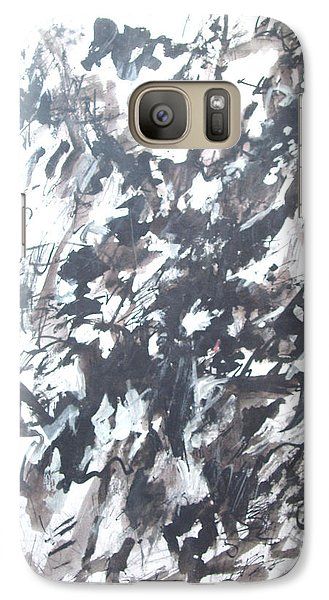 Galaxy Case featuring the painting Violence by Esther Newman-Cohen