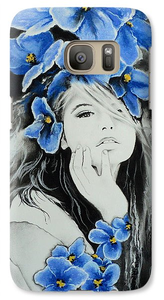 Galaxy Case featuring the drawing Violet by Carla Carson